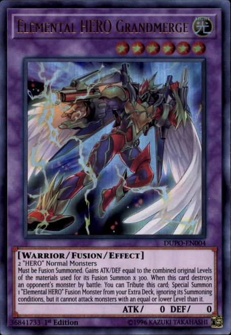 YuGiOh Duel Power Ultra Rare Elemental HERO Grandmerge DUPO-EN004
