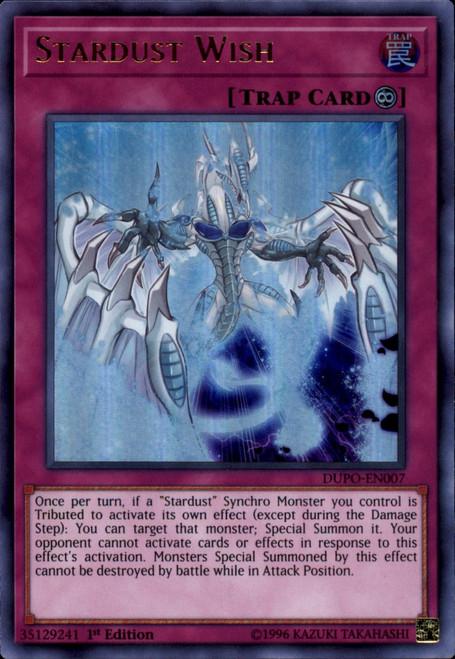 YuGiOh Duel Power Ultra Rare Stardust Wish DUPO-EN007