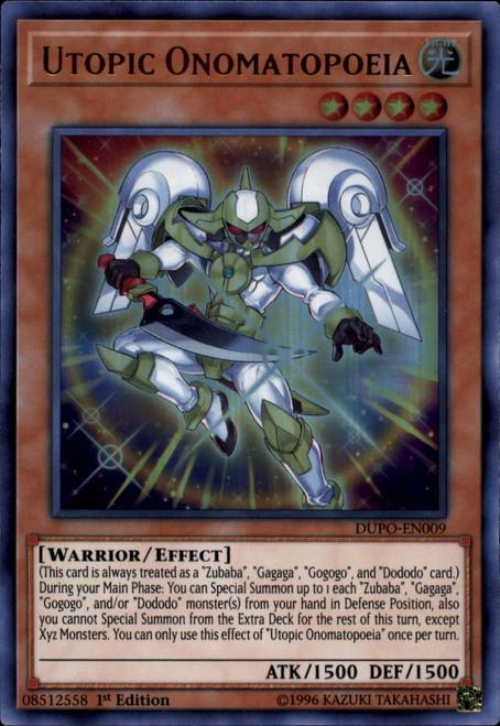 YuGiOh Duel Power Ultra Rare Utopic Onomatopeia DUPO-EN009