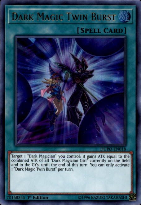 YuGiOh Duel Power Ultra Rare Dark Magic Twin Burst DUPO-EN018