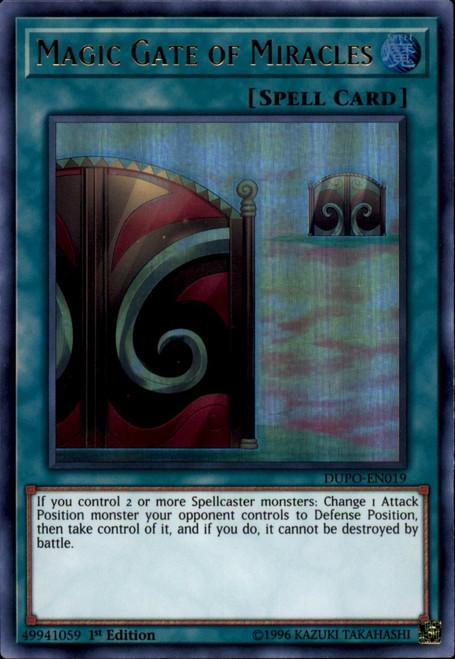 YuGiOh Duel Power Ultra Rare Magic Gate of Miracles DUPO-EN019