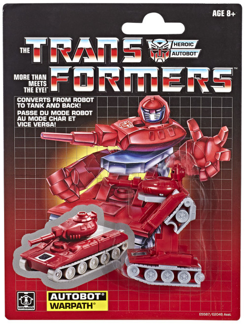 Transformers Gen 1 2019 Reissue Warpath Exclusive Action Figure