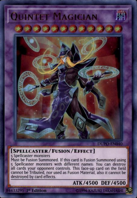 YuGiOh Duel Power Ultra Rare Quintet Magician DUPO-EN040