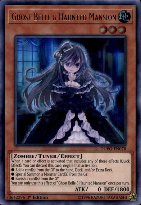 YuGiOh Duel Power Ultra Rare Ghost Belle & Haunted Mansion DUPO-EN078