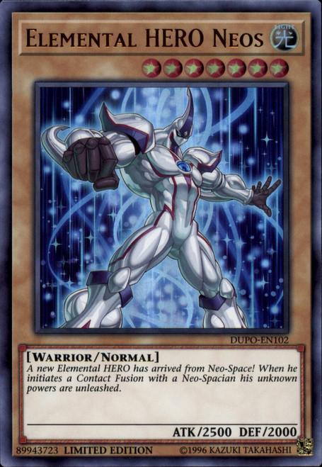 YuGiOh Duel Power Ultra Rare Elemental HERO Neos DUPO-EN102