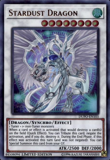 YuGiOh Duel Power Ultra Rare Stardust Dragon DUPO-EN103