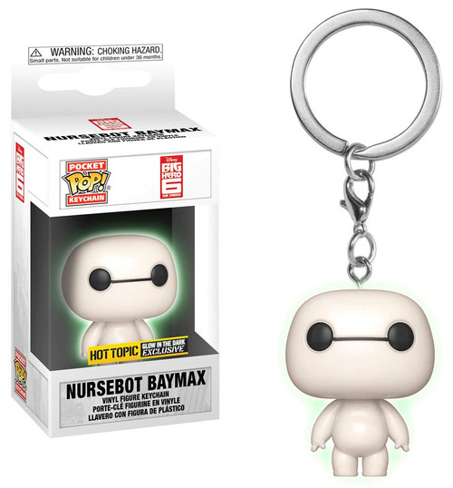 Funko Big Hero 6 POP! Disney Nursebot Baymax Exclusive Keychain [Glow-in-the-Dark]