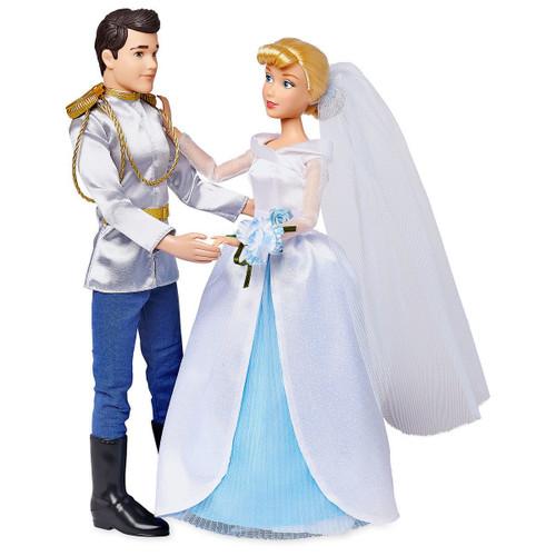 Disney Princess Classic Cinderella & Prince Charming 11.5-Inch Wedding Doll 2-Pack Set