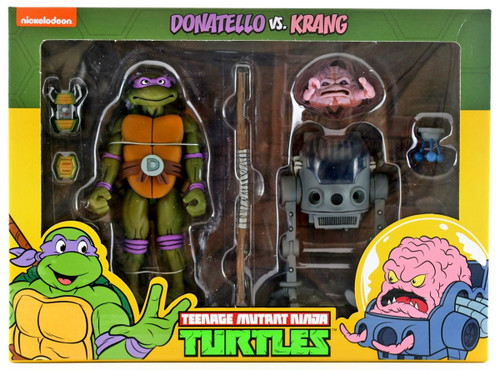 NECA Teenage Mutant Ninja Turtles Donatello & Krang Exclusive Action Figure 2-Pack
