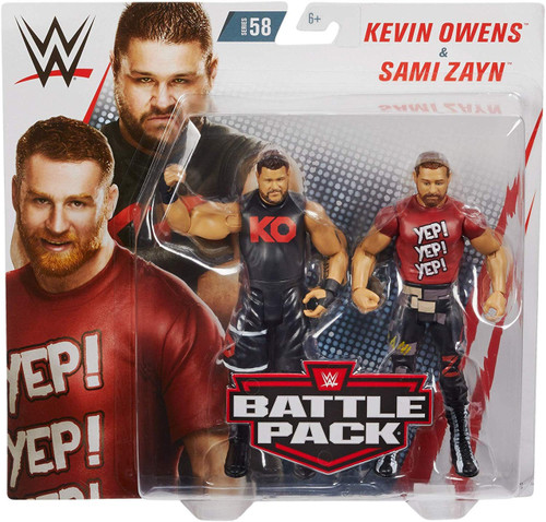 WWE Wrestling Battle Pack Series 58 Kevin Owens & Sami Zayn Action Figure 2-Pack