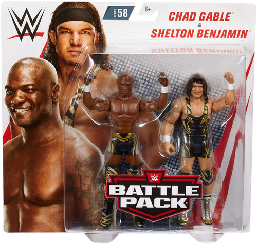 WWE Wrestling Battle Pack Series 58 Chad Gable & Shelton Benjamin Action Figure 2-Pack