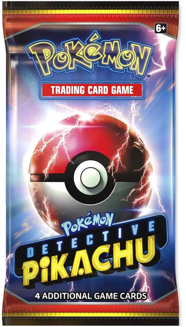 Pokemon Trading Card Game Detective Pikachu Booster Pack [4 Cards]