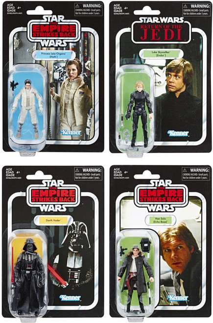 Star Wars Vintage Collection Wave 20 Leia, Vader, Luke & Han Set of 4 Action Figures