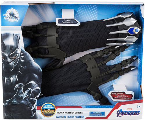 Disney Marvel Avengers Infinity War Black Panther Gloves Exclusive Roleplay Toy [2019]