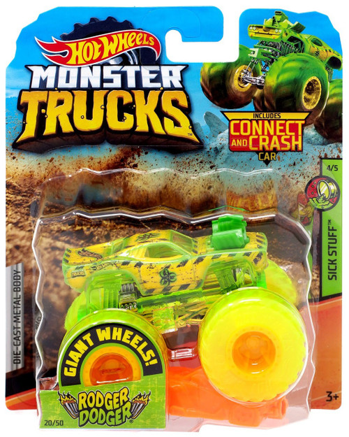 Hot Wheels Monster Trucks Rodger Dodger Diecast Car [Sick Stuff]