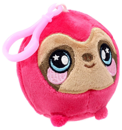Squeezamals Series 2 Pink Sloth 3-Inch Clip On Plush
