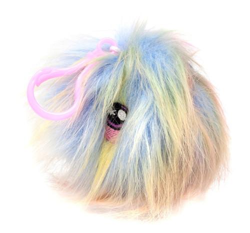Squeezamals Series 2 Rainbow Fluffy Fur Ball 3-Inch Clip On Plush