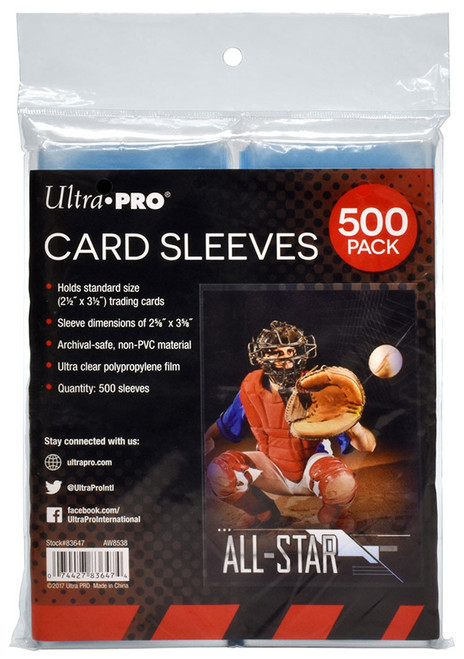 Ultra Pro Card Supplies 500 Pack Standard Card Sleeves