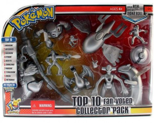 Pokemon Top 10 Fan Voted Collector Pack Action Figure Set