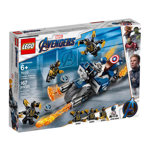 LEGO Marvel Super Heroes Avengers Captain America: Outriders Attack Set #76123