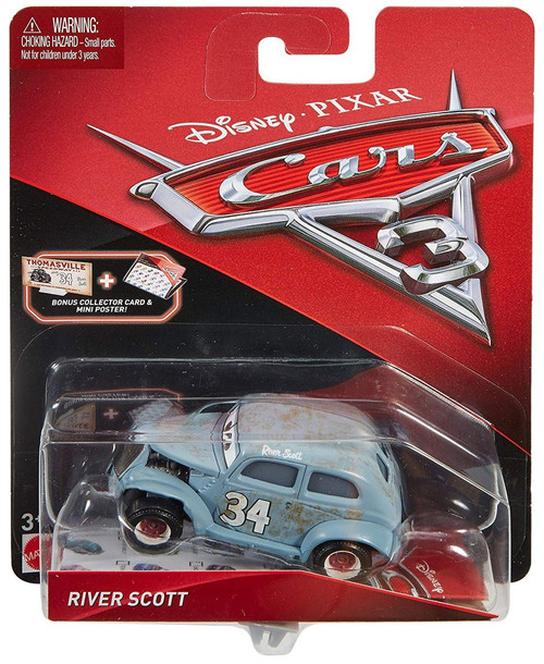 Disney / Pixar Cars Cars 3 River Scott Diecast Car [Collector Card & Mini Poster]