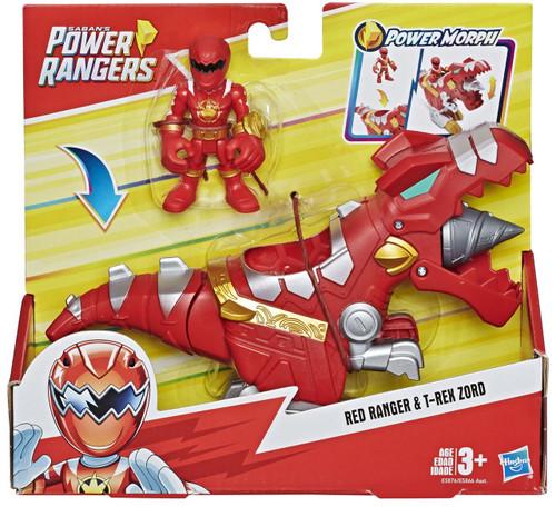 Power Rangers Playskool Heroes Red Ranger & T-Rex Zord 3-Inch Figure Set