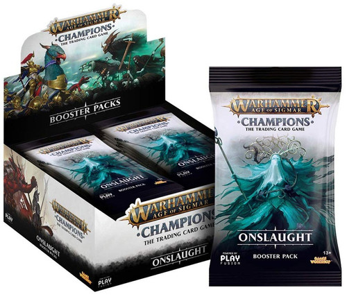 Warhammer Age of Sigmar Champions Onslaught Trading Card Game Booster Box [24 Packs]
