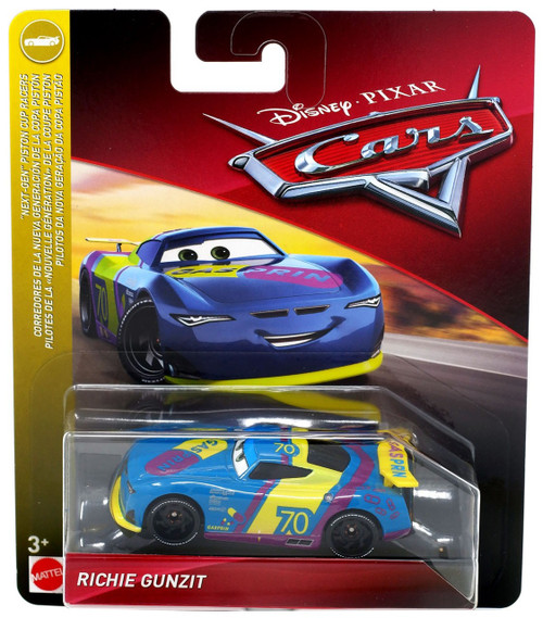 "Disney / Pixar Cars Cars 3 ""Next-Gen"" Piston Cup Racers Richie Gunzit Diecast Car"