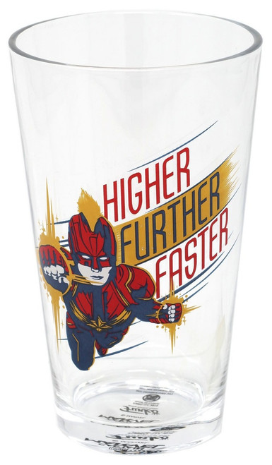 Funko Marvel Collector Corps Captain Marvel Exclusive Pint Glass