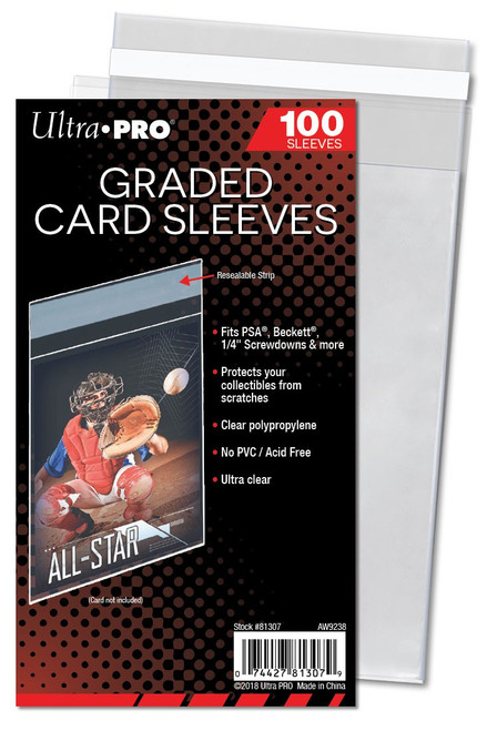 Ultra Pro Card Supplies Graded Card Sleeves Standard [100 Count]