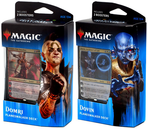 MtG Trading Card Game Ravnica Allegiance Domri & Dovin Set of Both Planeswalker Decks [Set of 2]
