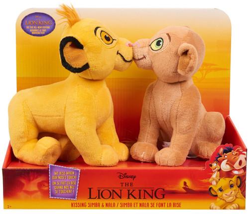 Disney The Lion King Kissing Simba & Nala 10-Inch Plush Set