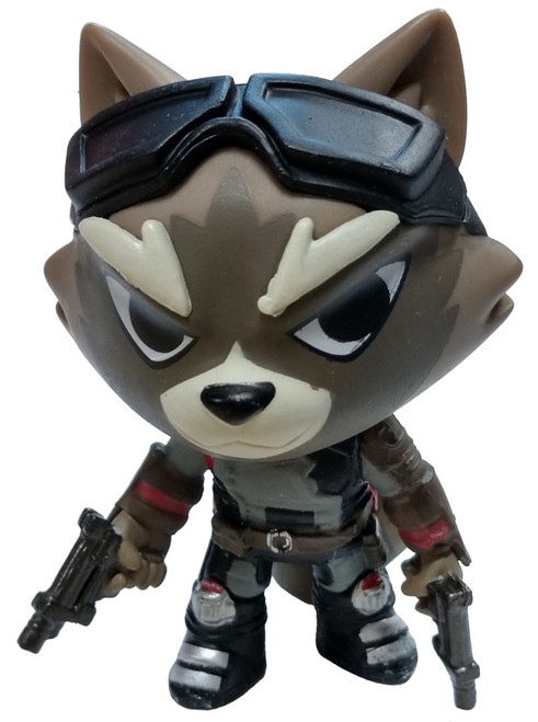 Funko Marvel Avengers Endgame Mystery Minis Rocket 1/24 Mystery Minifigure [Quantum Realm Suit, Guns Loose]