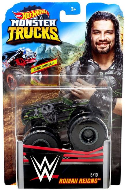 Hot Wheels Monster Trucks WWE Roman Reigns Diecast Car