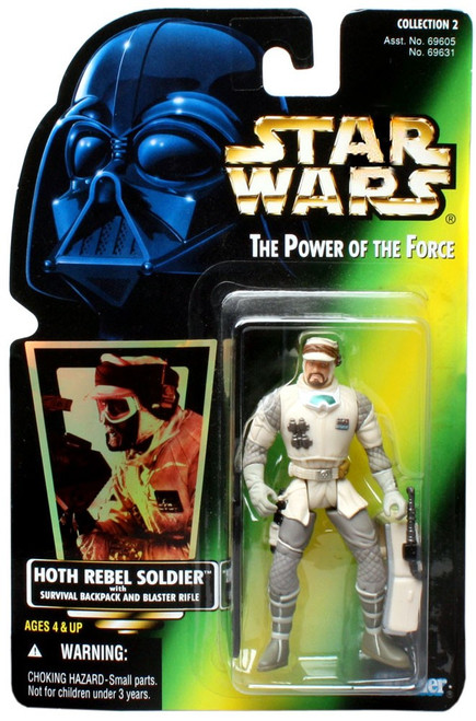 Star Wars The Empire Strikes Back Power of the Force POTF2 Collection 2 Hoth Rebel Soldier Action Figure [Hologram Card]