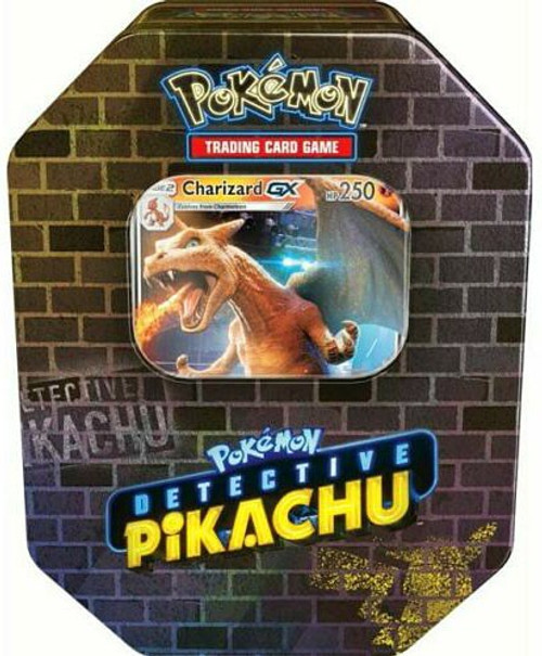 Pokemon Detective Pikachu Charizard Exclusive Tin Set [6 Booster Packs & Ultra Rare Promo Card!]