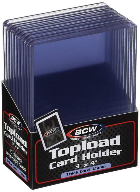 "Card Supplies Toploader Series 3"" X 4"" Toploader 138pt Card Holders [10 Count]"