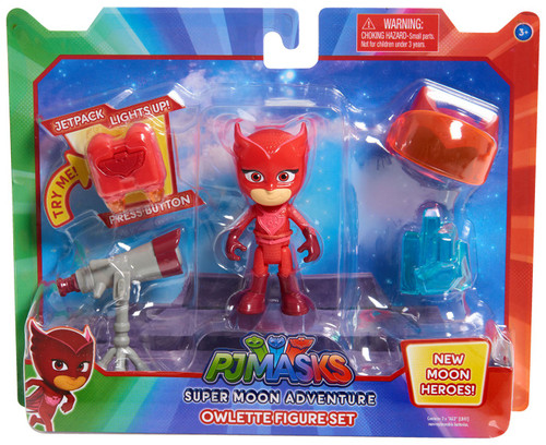 Disney Junior PJ Masks Super Moon Adventure Owlette 3-Inch Figure Set