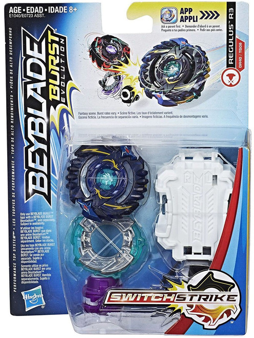 Beyblade Burst Switchstrike Regulus R3 Starter Pack [Black, Damaged Package]