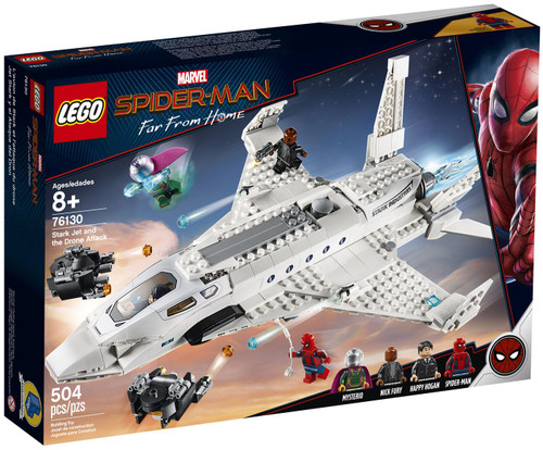 LEGO Marvel Spider-Man Far From Home Stark Jet and Drone Attack Set #76130