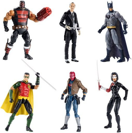 DC Multiverse Killer Croc Series KG Beast, Batman, Alfred Pennyworth, Red Hood, Red Robin & Katana Set of 6 Action Figures