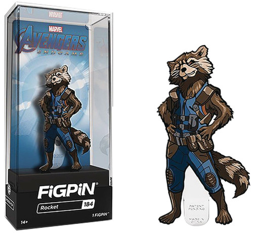 Marvel Avengers Endgame FiGPiN Rocket Racoon 3-Inch Collectible Pin