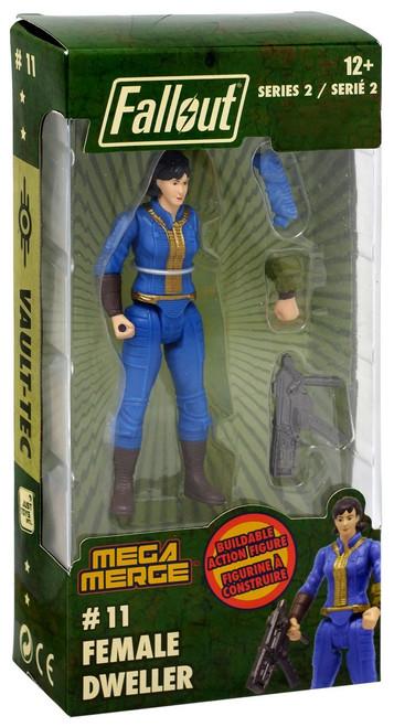 Fallout Mega Merge Series 2 Female Dweller Buildable Figure #11