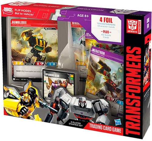 Transformers Trading Card Game Bumblebee vs. Megatron 2-Player Starter Deck Set