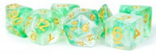 Unicorn Dice Icy Everglades Polyhedral 7-Die Dice Set