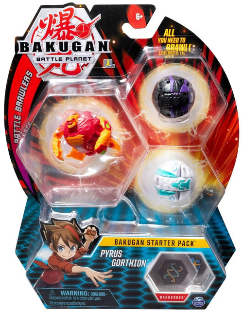 Bakugan Battle Planet Battle Brawlers Pyrus Gorthion Starter Pack