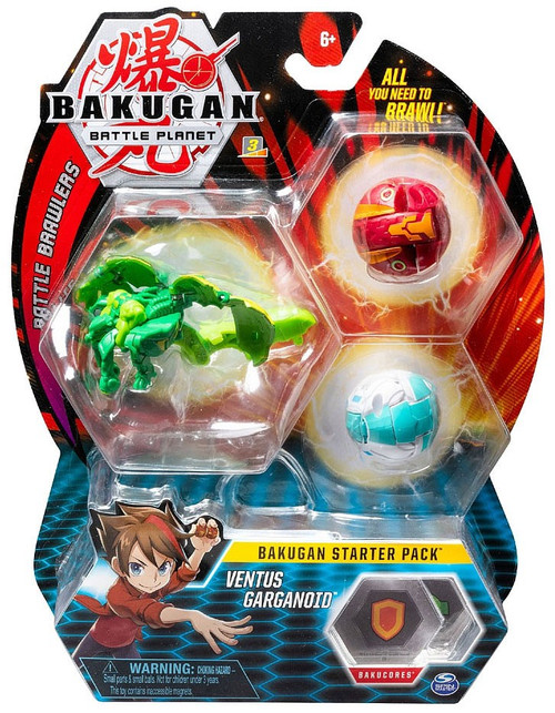 Bakugan Battle Planet Battle Brawlers Ventus Garganoid Starter Pack