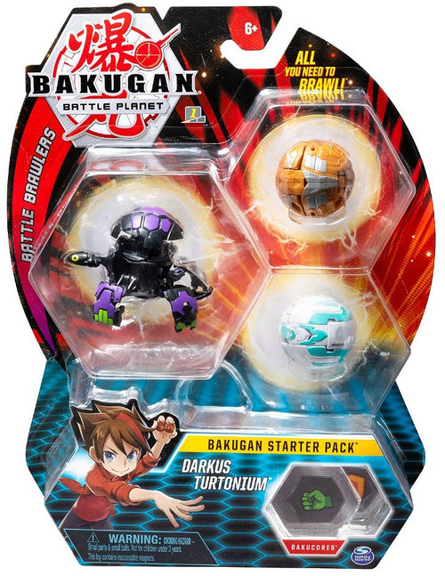 Bakugan Battle Planet Battle Brawlers Darkus Turtonium Starter Pack