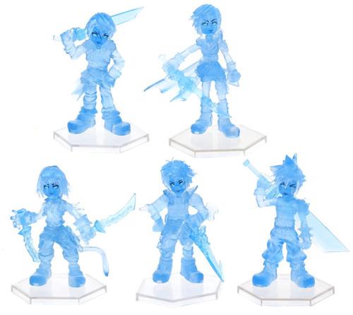 Dissidia Final Fantasy Trading Arts Cloud Strife, Lightning, Squall Leonhart, Tidus, and Zidane Tribal Set of 5 Mini Figures [Manikin Color Ver.]