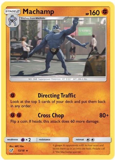 Pokemon Trading Card Game Detective Pikachu Rare Holo Machamp #13